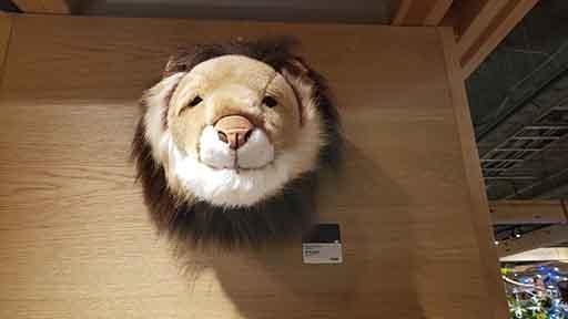 大きなネコ・・・ライオンの壁掛け アニマルヘッド