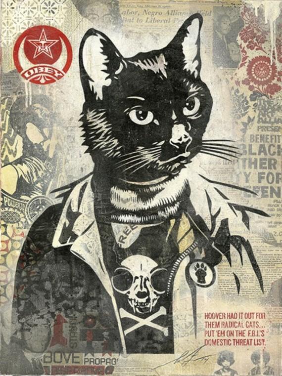 shepard-fairey radical cat