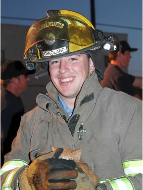 New Mexico fire fighter Dustin Caroland