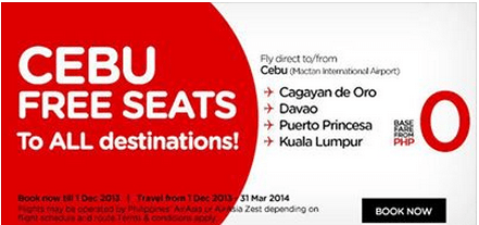Promo fare to Cebu