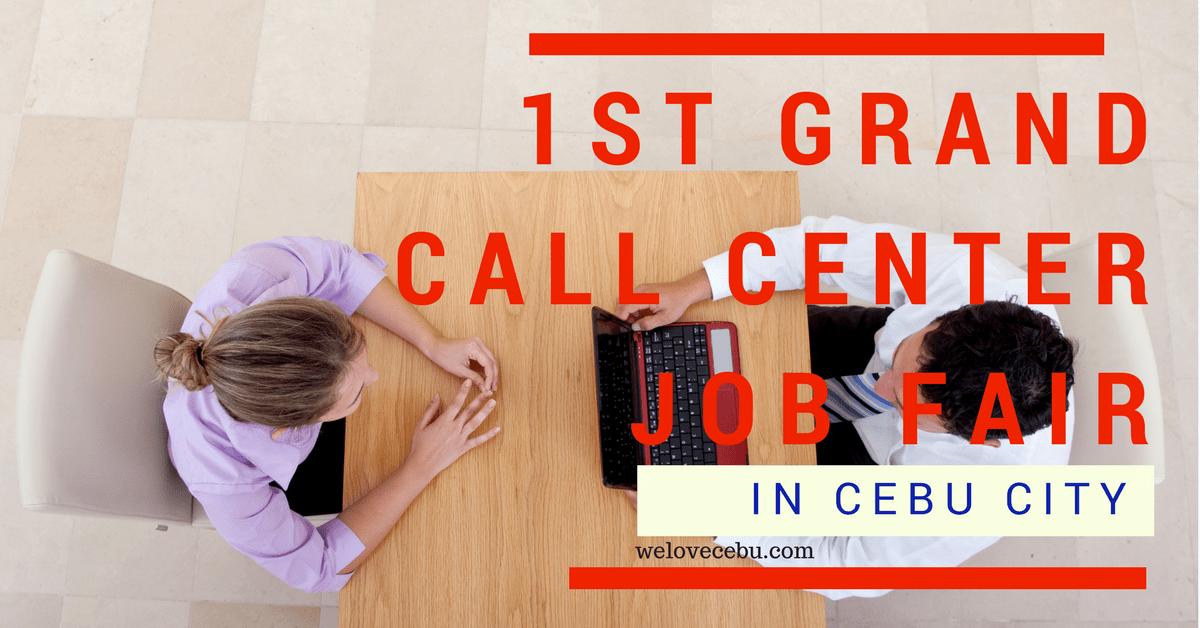 1st grand call center job fair cebu city