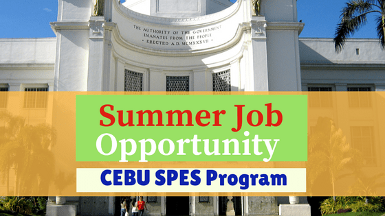 Summer Job Opportunity - CEBU SPES Program