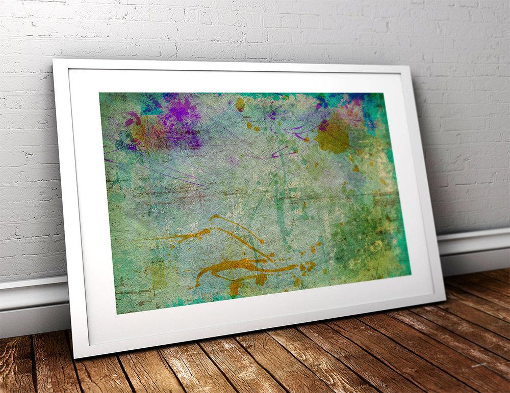 Abstract Art Print Abstract Decor Giclee Print On Cotton