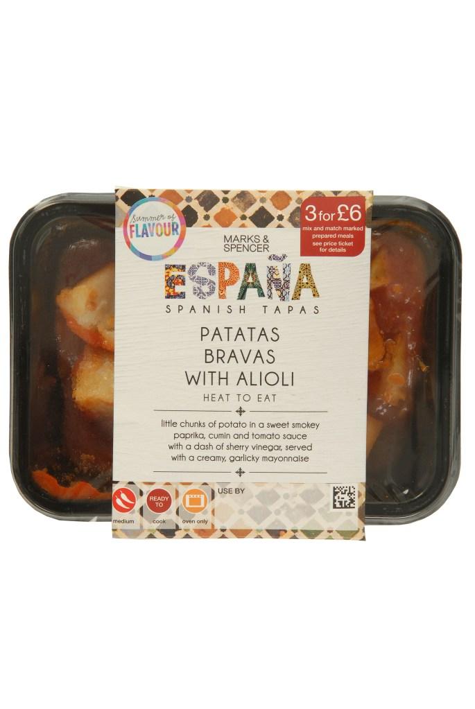 MARKS AND SPENCER TAPAS RANGE | PATATAS BRAVAS WITH ALIOLI | WE LOVE FOOD, IT'S ALL WE EAT