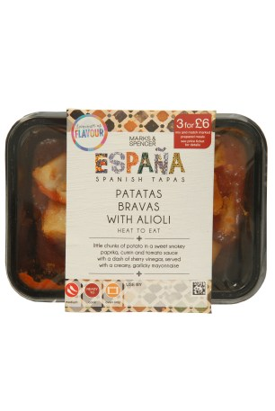 MARKS AND SPENCER TAPAS RANGE | PATATAS BRAVAS WITH ALIOLI | WE LOVE FOOD, IT'S ALL WE EAT