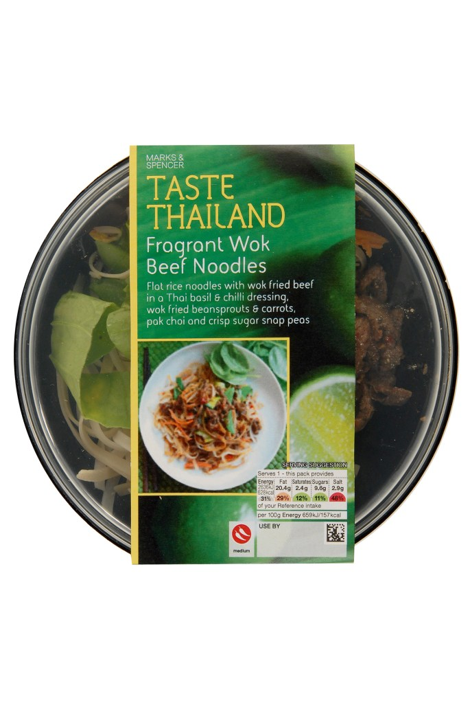 M&S TASTE RANGE REVIEW | WE LOVE FOOD, IT'S ALL WE EAT | FRAGRANT WOK BEEF NOODLES