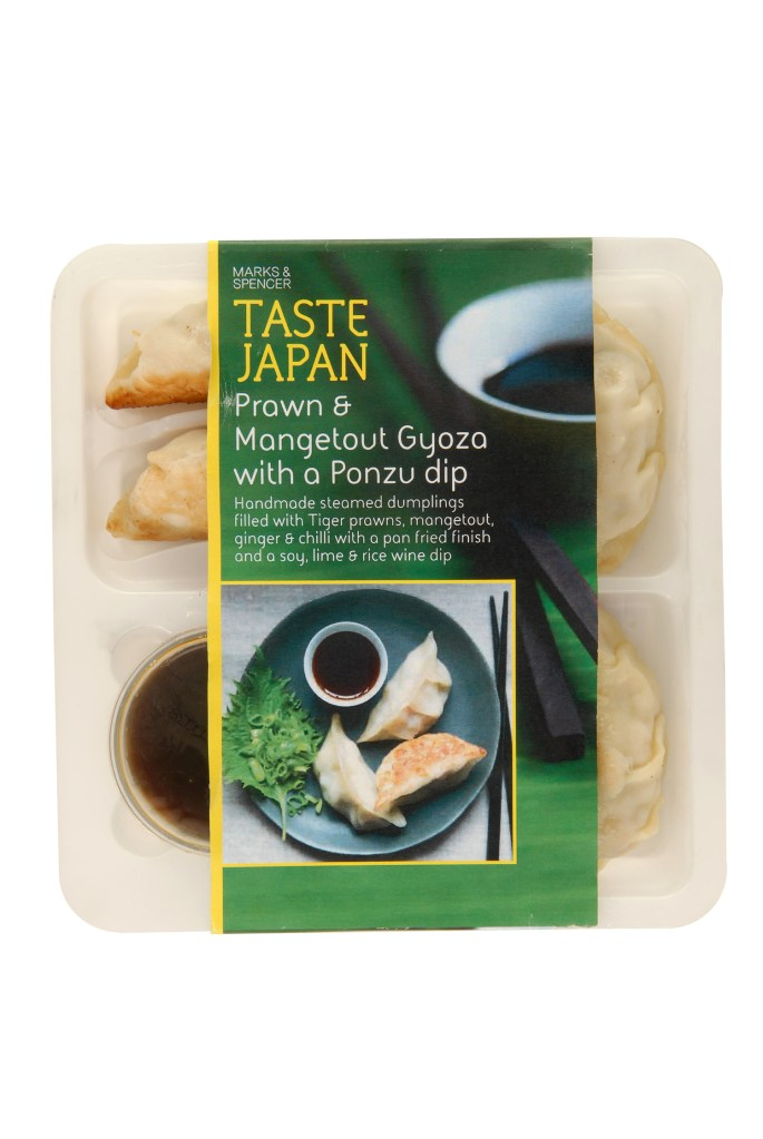 M&S TASTE RANGE REVIEW | WE LOVE FOOD, IT'S ALL WE EAT | PRAWN & MANGETOUT GYOZA WITH A PONZU DIP