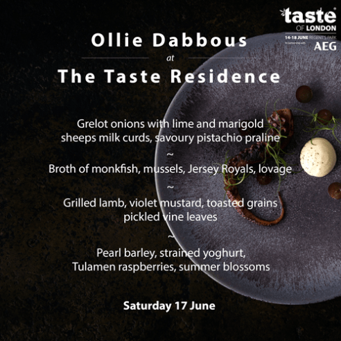 TASTE RESIDENCE | OLIVER DABBOUS | TASTE OF LONDON | WE LOVE FOOD, IT'S ALL WE EAT