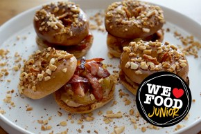 WE LOVE FOOD JUNIOR | NEW YORK BAKERY CO | MAPLE MINI BAGELS.JPG