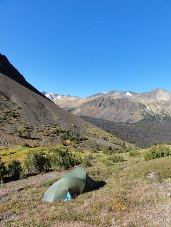 Camping just below Deer pass