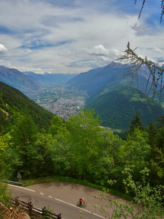 The descent into Martigny, Switzerland