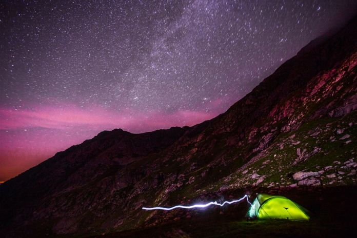 Stars on the Transfagarasan road