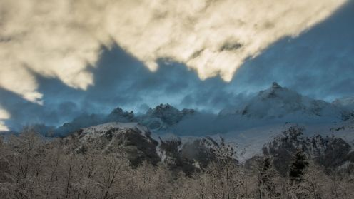 Freaky early morning light over Chamonix