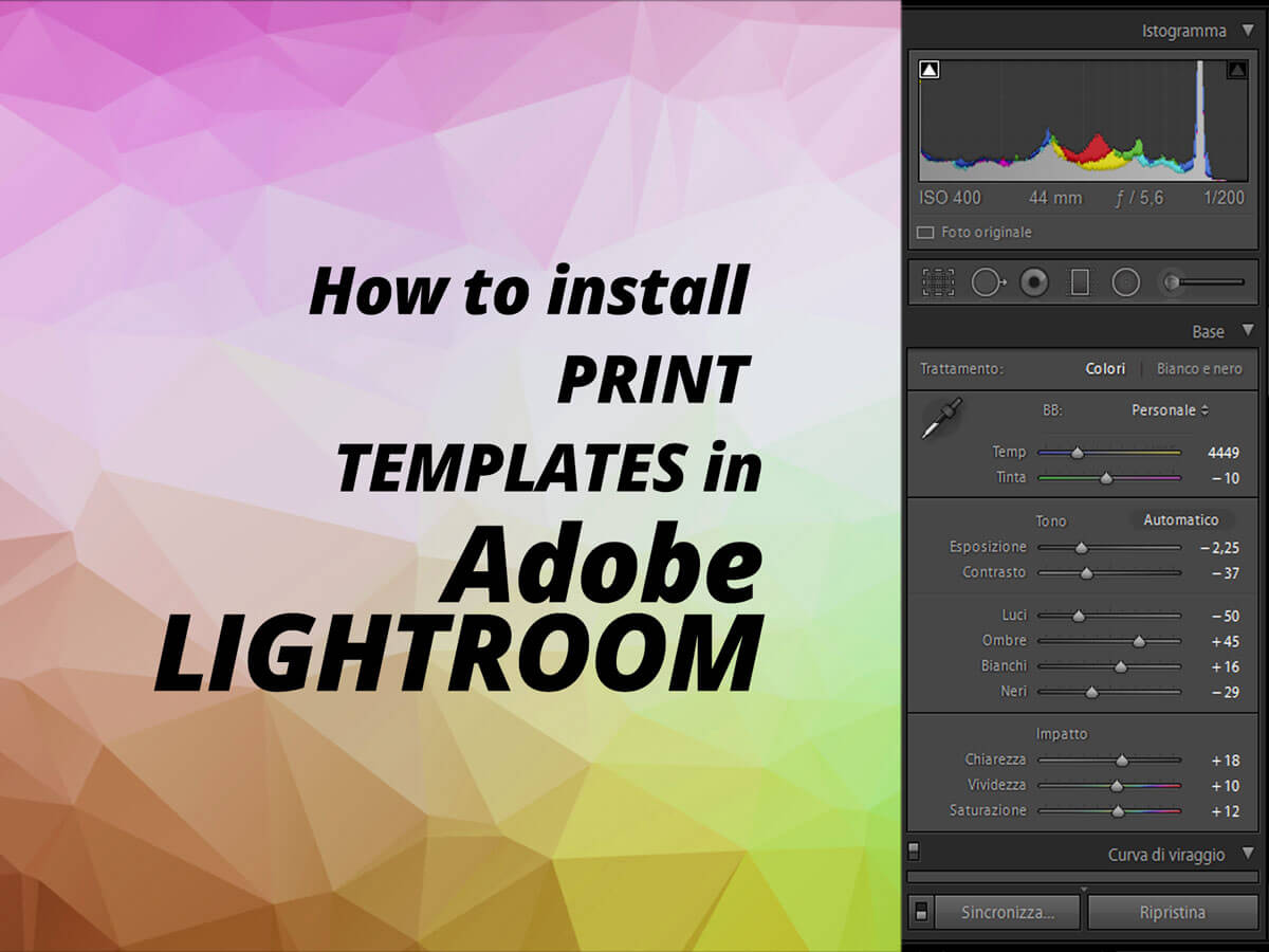 Lightroom Print Templates Presets For Photographers Film