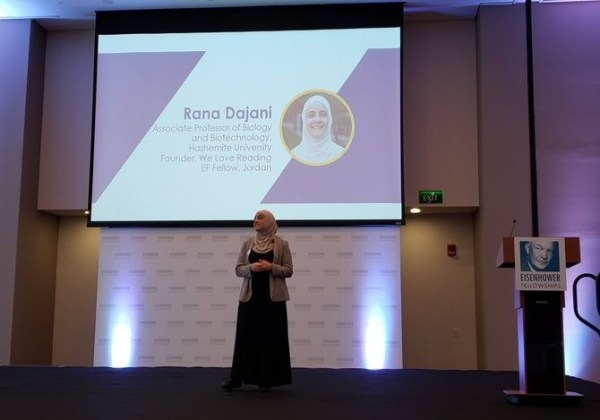 """Dr. Rana lightning talk on """"fostering the love of reading among children"""" at the future of education conference"""