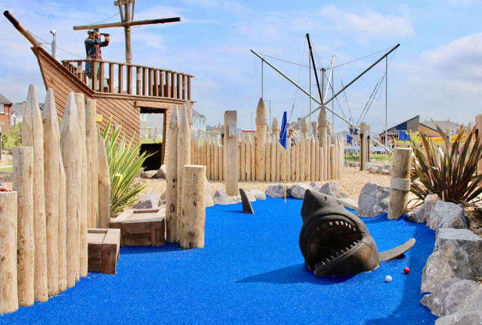 Aberavon Beach Pirates Cove mini crazy golf shark hole