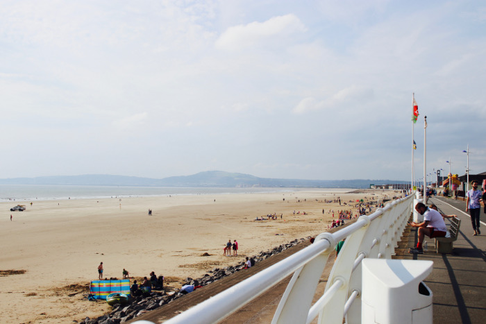 Aberavon Beach View long sandy beach