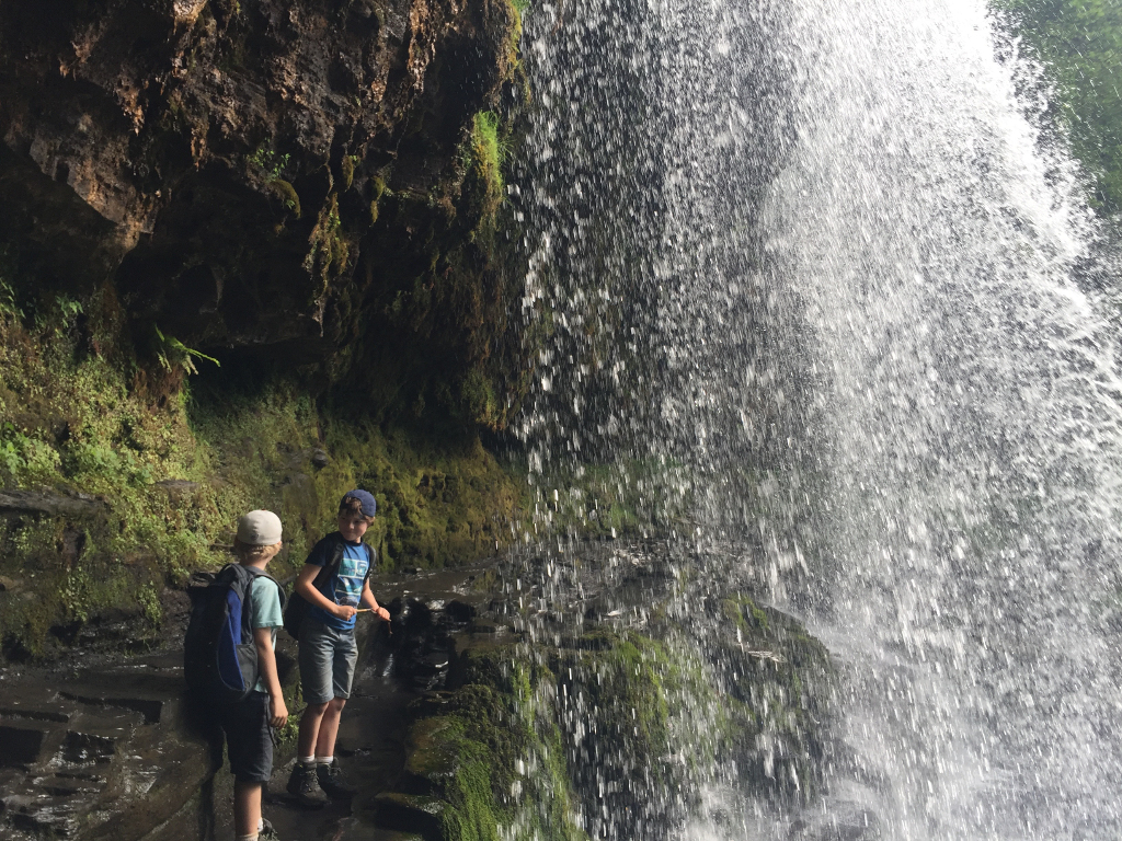 Walk Behind a Waterfall Brecon Beacons