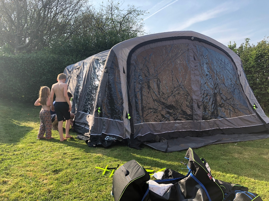 Camping in the garden