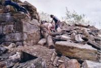 Simon and Nigel Chapman excavating the Engine House ruin