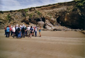 On the beach WMS members at Newgale Colliery Pembroke  June 2003