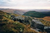 Looking west along Cyneiniog Valley.