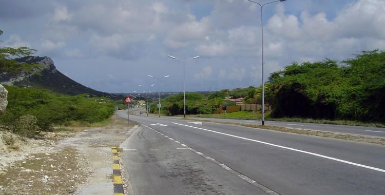 Straße Curacao