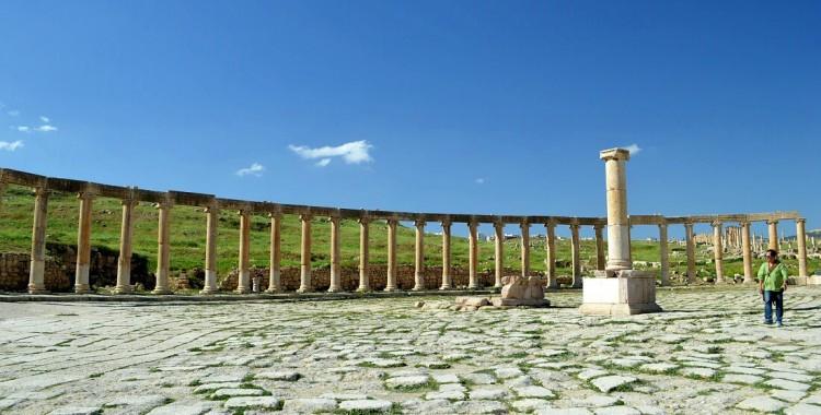 Jerash Säulen