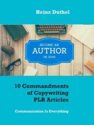 10 Commandments of Copywriting PLR Articles