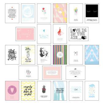 Postkarten Set Mit Spruchen Zitaten