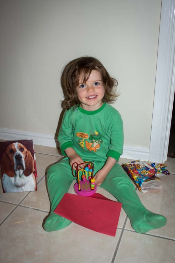 Present in pyjamas