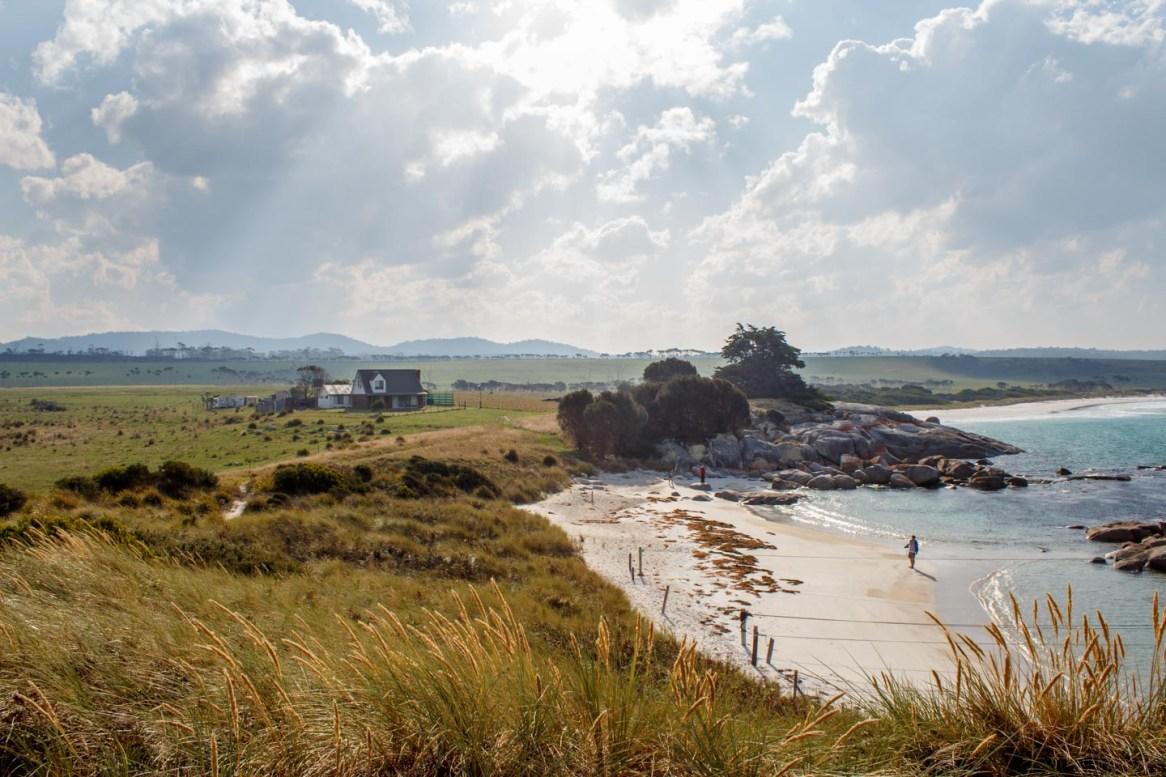 Farm mit Strand bei der Bay of Fires