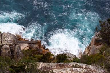 View of a cliff diver - Freycenet National Park
