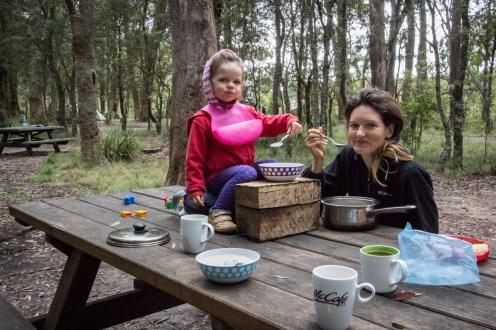 Outdoor morning tea