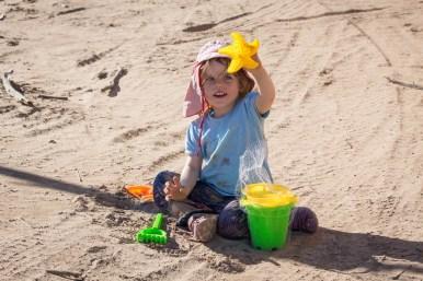 Dirt sandpit