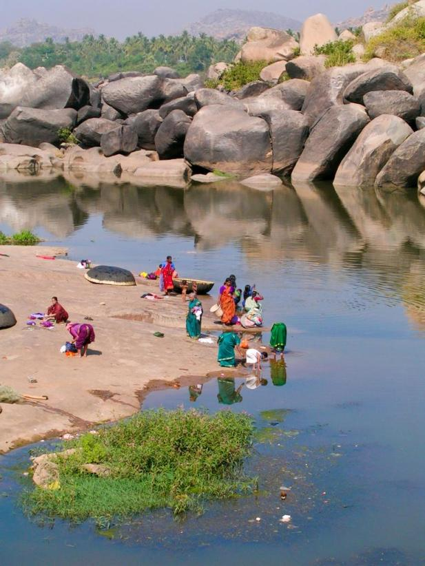 Wäschewaschen, die indische Art