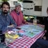 Grandioses Frühstück mit Terry (frischer O-Saft, Rührei und Speck). Danke für die guten Routenvorschläge und das Bärspray.
