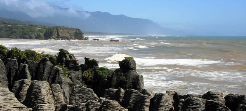 Bizarre Felsen: Die Pancake Rocks bei Punakaiki