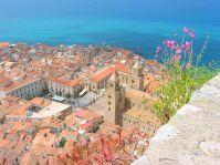 Blick vom Rocca di Cefalu auf die Altstadt...