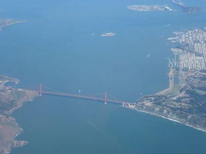 Es gibt zwar schönere Bilder von der Golden Gate - aber aus dieser Höhe?