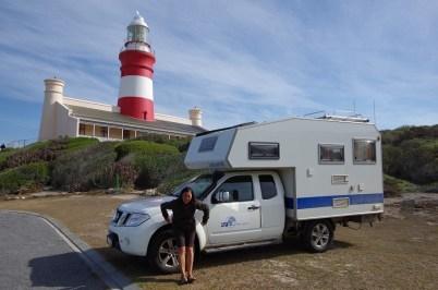 Da steht unsere Hütte am südlichsten Punkt Afrikas...