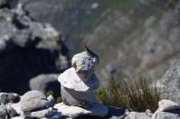 Die Wanderwege auf dem Tafelberg sind durch Steinmännchen gekennzeichnet, und die sind bewacht.