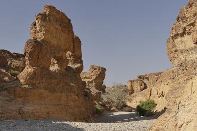Der Sesriem Canyon wird nach Westen immer breiter.