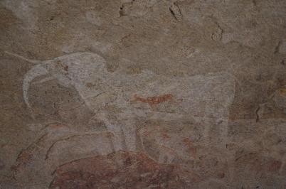 der berühmte weiße Elefant mit der roten Antilope in der Philips-Höhle