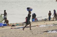 Waschtag am Strand