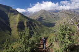 In den Maloti-Bergen von Lesotho gibt es schöne Wanderwege...