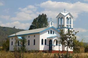 Prächtige Kirchen stehen in der Nähe von Iringa.