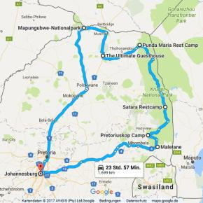 Statistik Südafrika, Teil 26 (von Johannesburg nach Johannesburg)