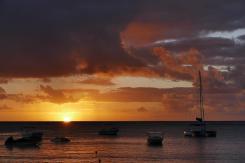 Von unserem Quartier können wir jeden Abend einen fantastischen Sonnenuntergang beobachten.