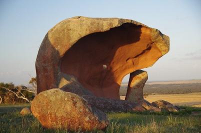 Schon mal ein kleiner Vorgeschmack auf größere Steine, die noch kommen werden: Murphys Haystacks